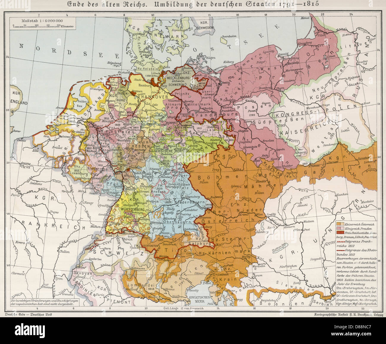 Europe 1815 Map Stock Photos & Europe 1815 Map Stock Images - Alamy
