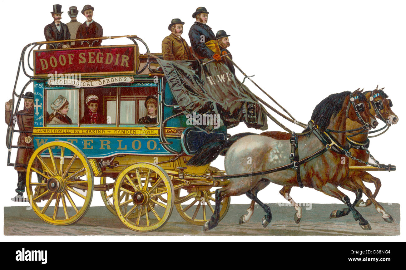 Horse Bus Scrap - Stock Image