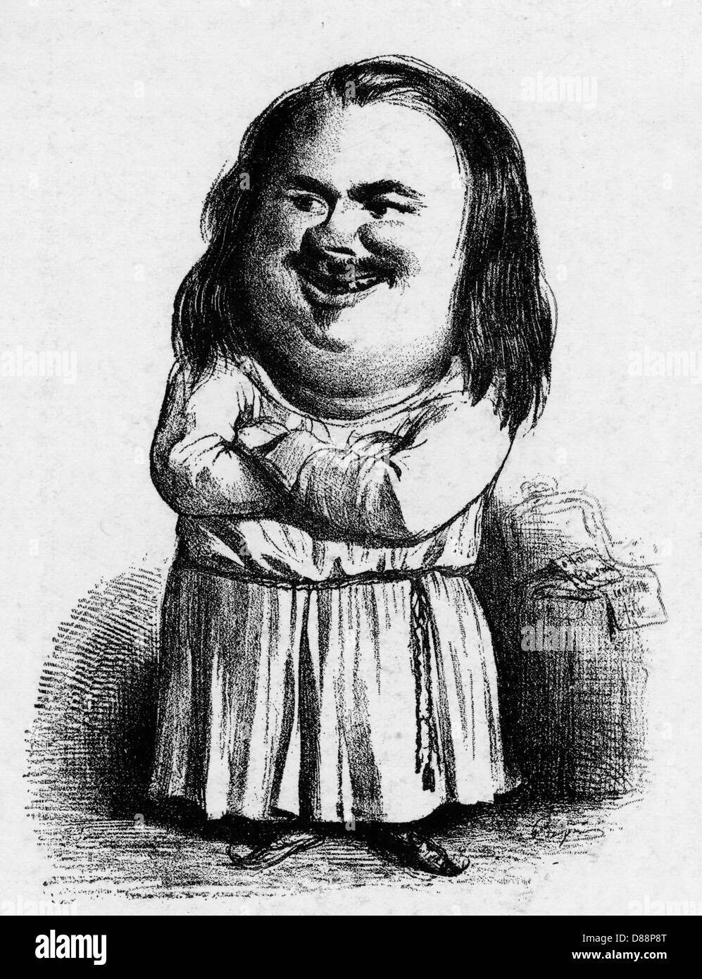 Honore balzac satirical caricature