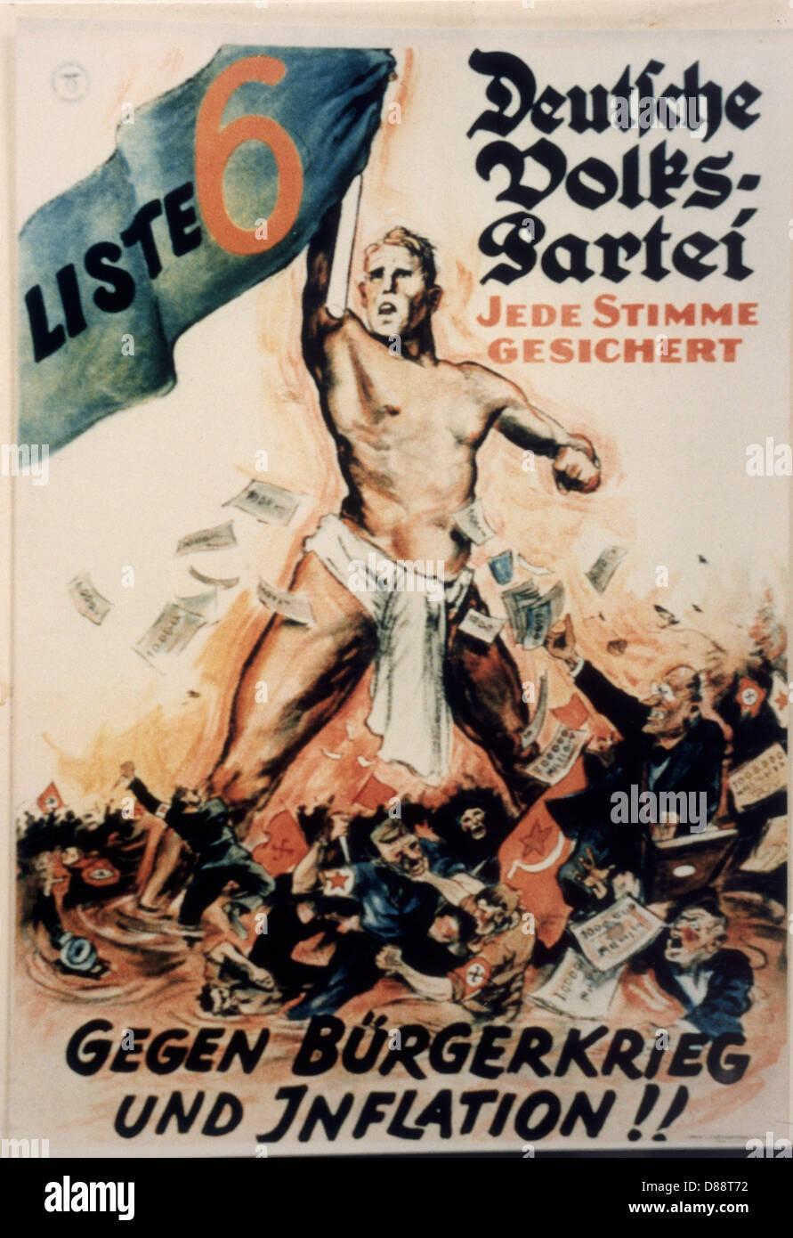 Nazi Propaganda Poster - Stock Image
