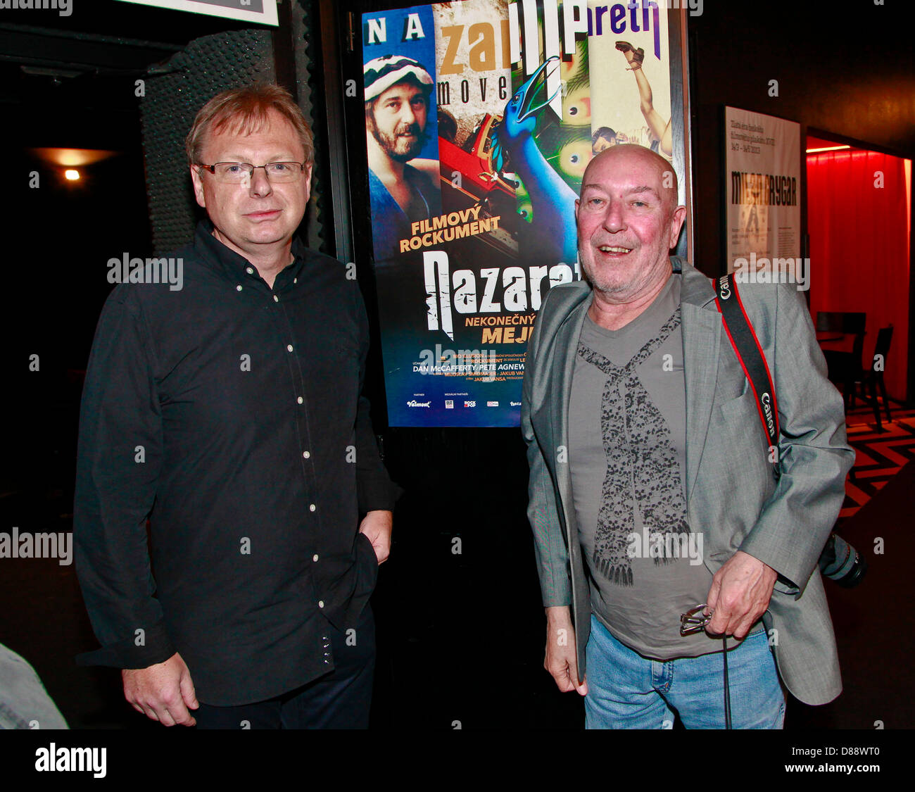 Pete Agnew (right) the Scottish hard rock band Nazareth seen at the premiere documentary about them directed by - Stock Image