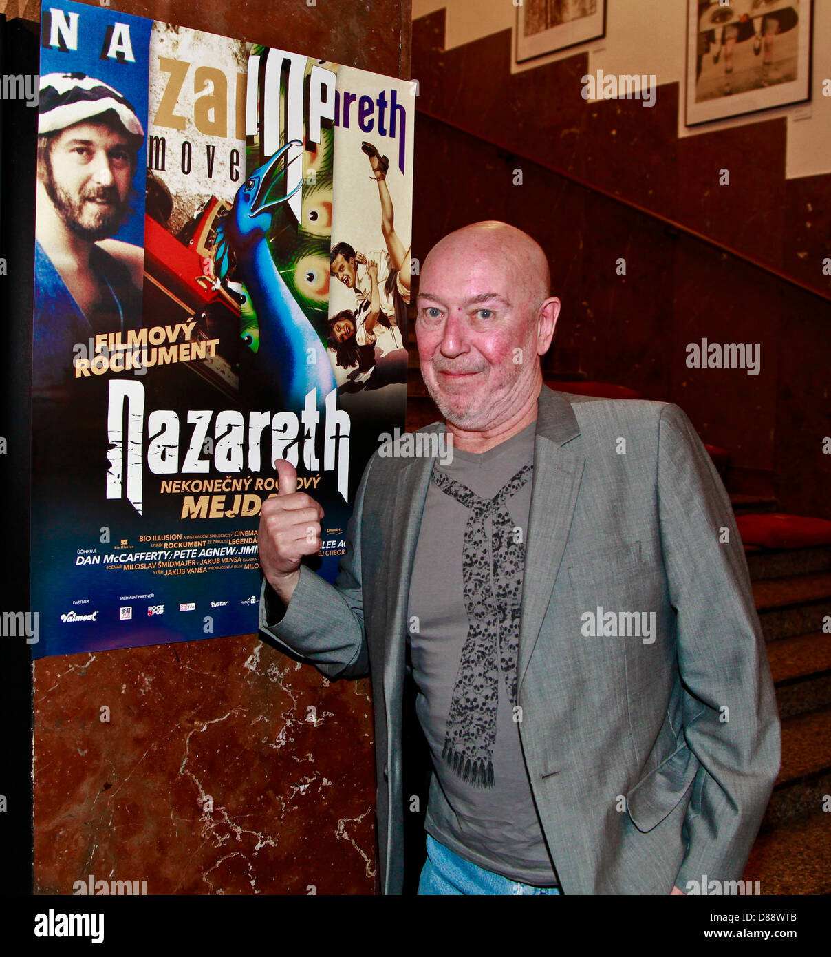 Pete Agnew the Scottish hard rock band Nazareth seen at the premiere documentary about them directed by Czech director - Stock Image