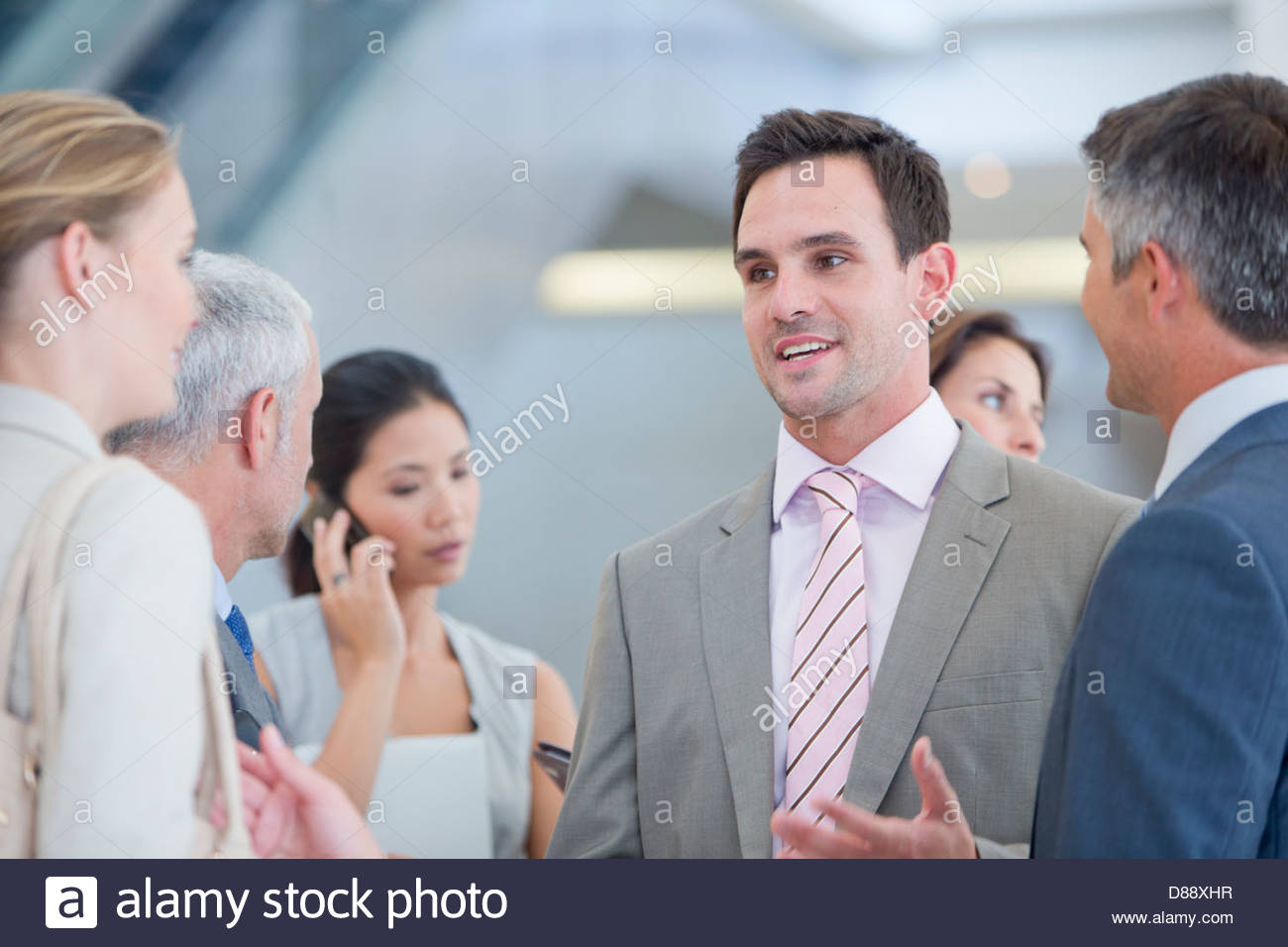 Business people talking - Stock Image