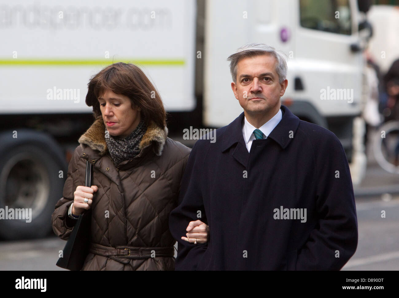 Chris Huhne and Carina Trimingham arriving at Southwark Crown Court 4th February 2013 - Stock Image