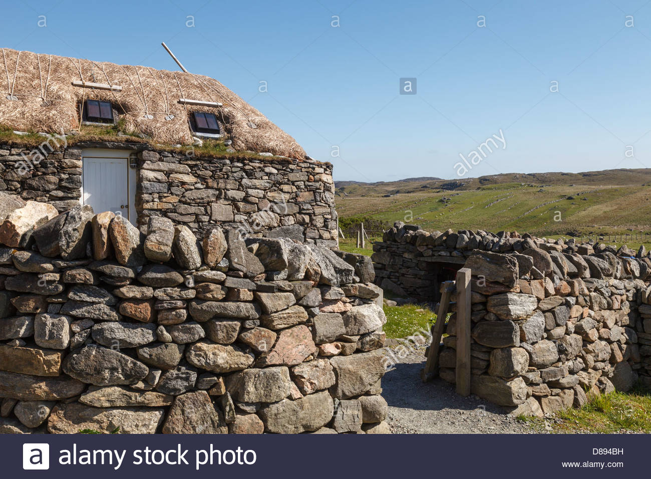 Gearrannan Blackhouse Village, Isle of Lewis, Other Hebrides, Scotland - Stock Image