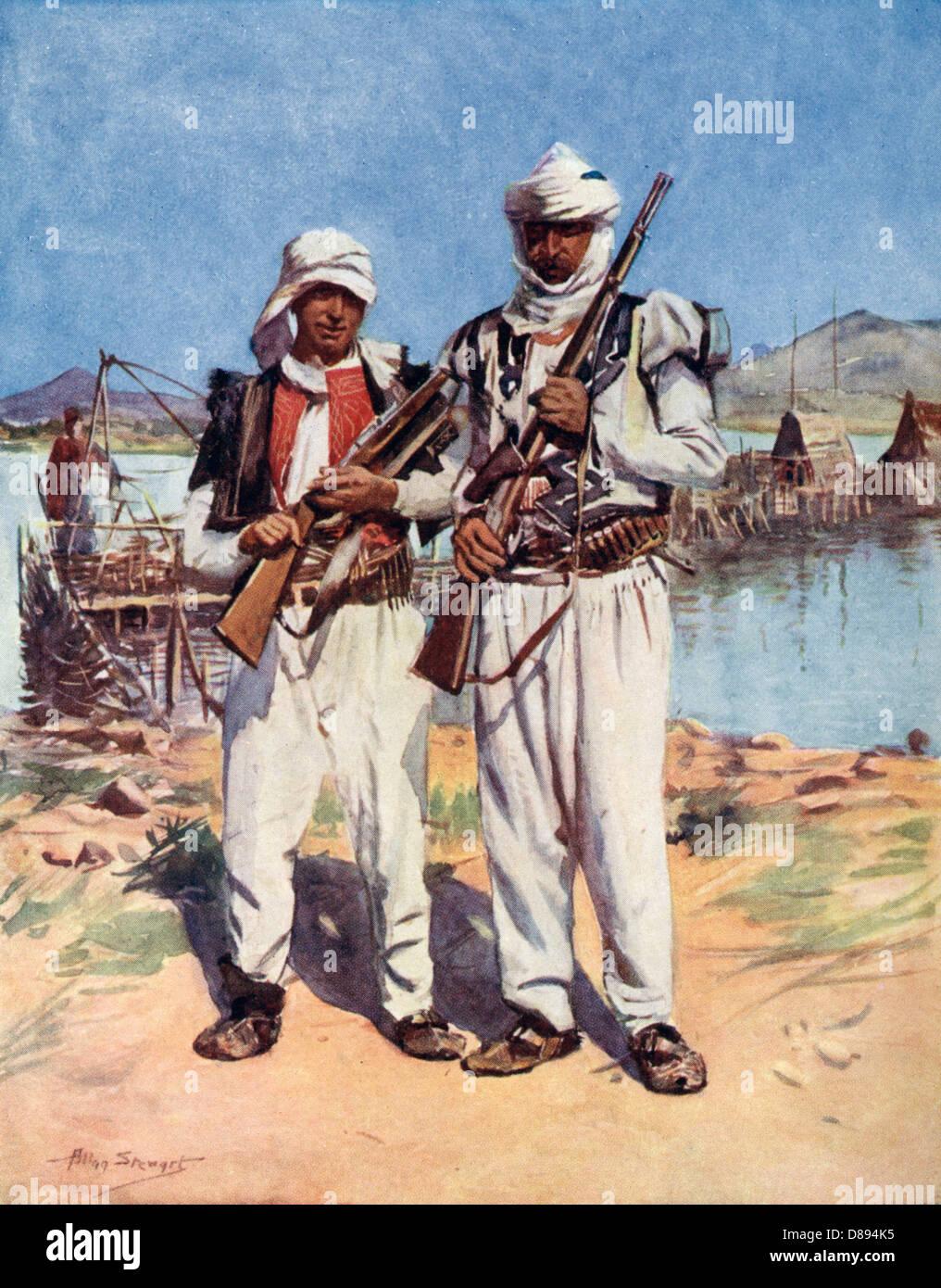 Racial Albania Border - Stock Image