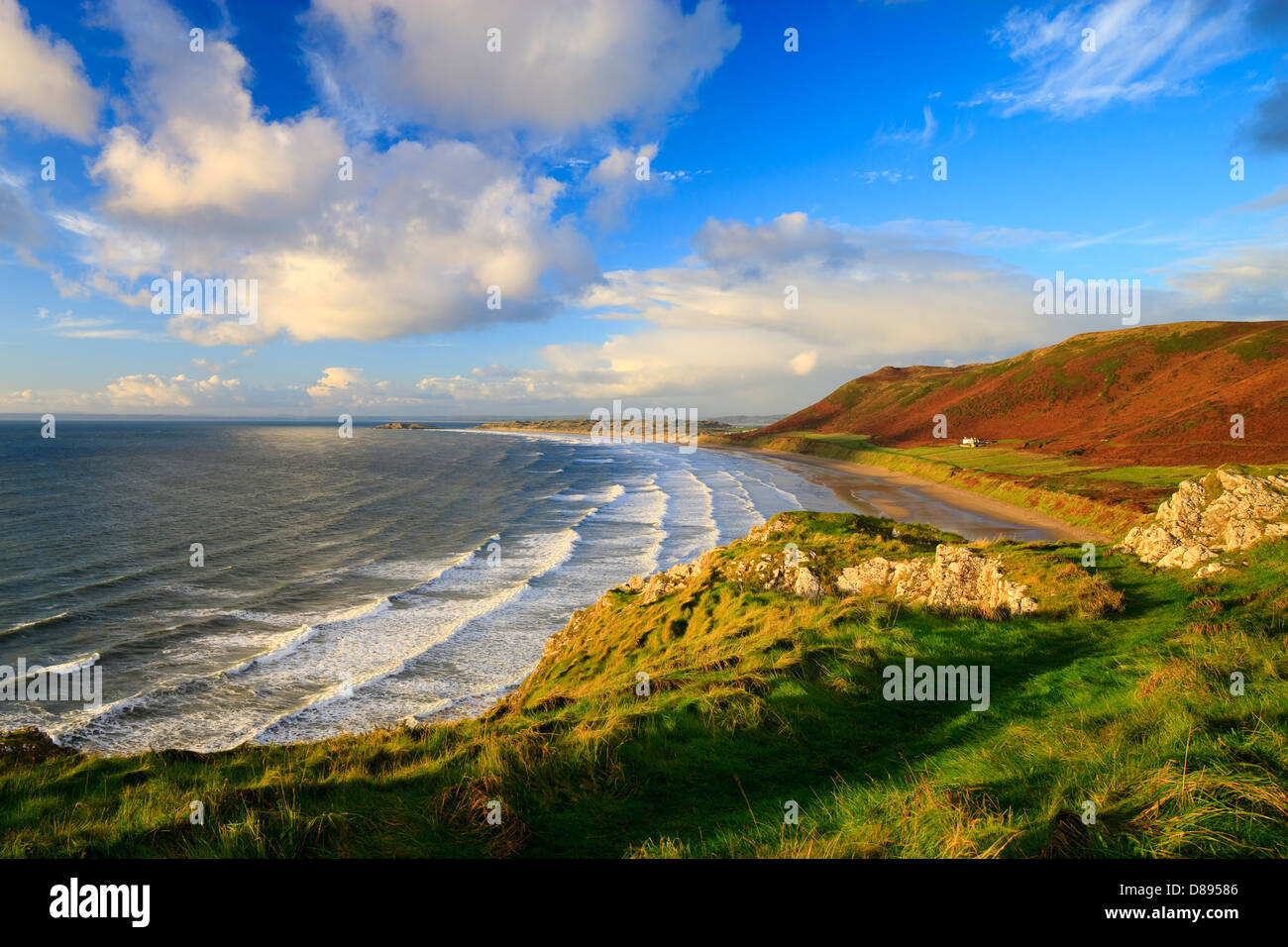 Rhossili Bay Gower Swansea Wales - Stock Image