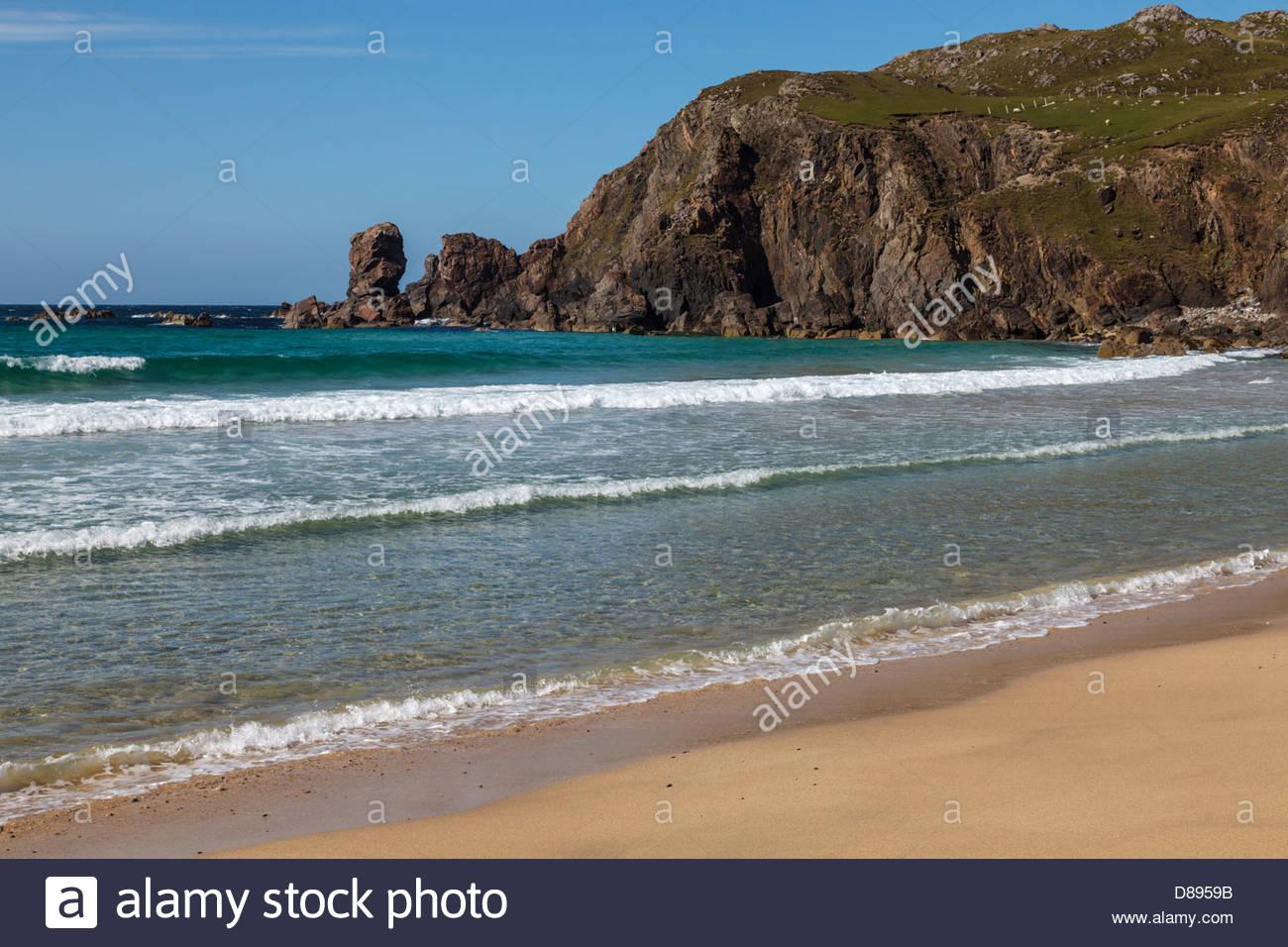 Dalmore Bay (Bhag Dhail Mór), Isle of Lewis, Outer Hebrides, Scotland, United Kingdom - Stock Image