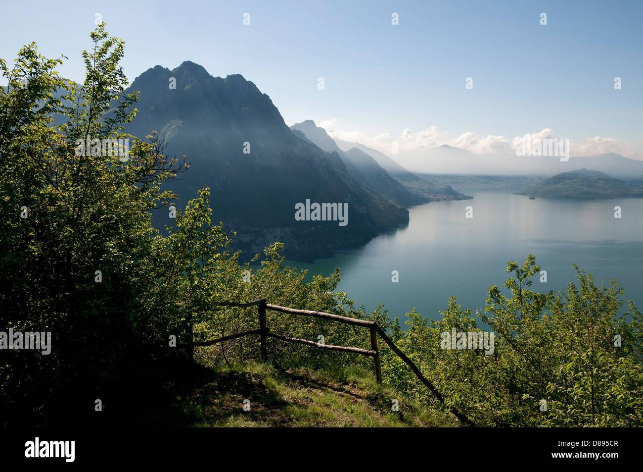 lake iseo, lombardy, italy Stock Photo