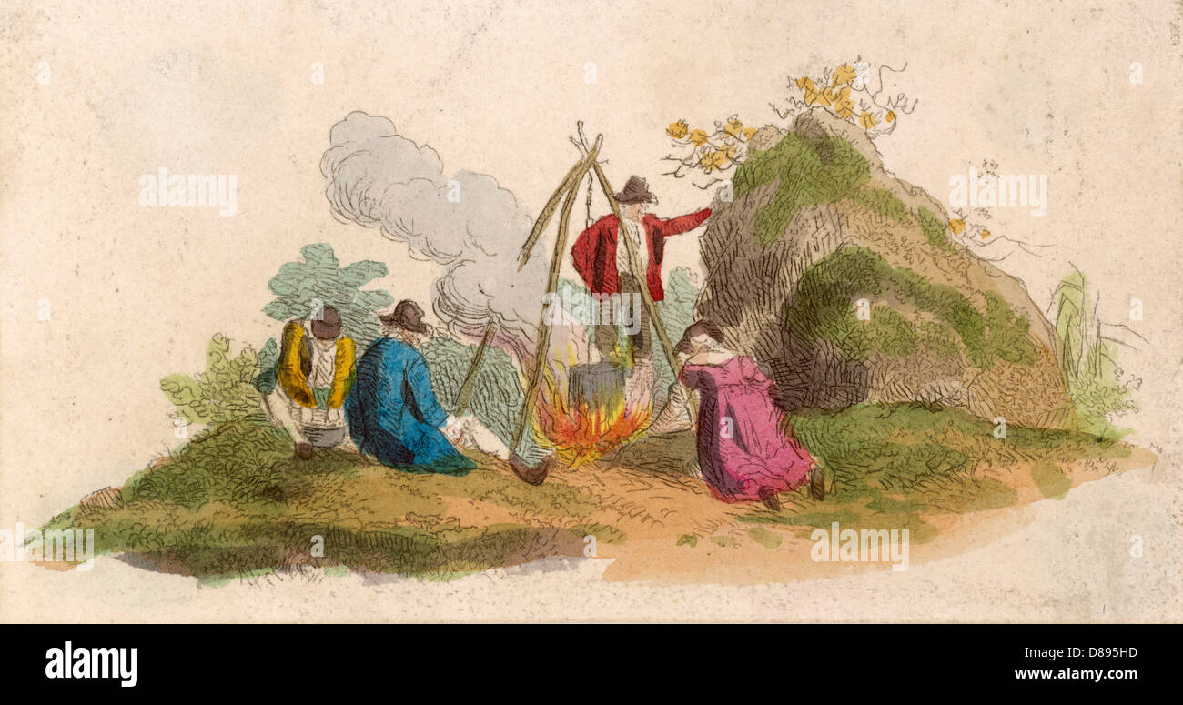 Racial Gipsies 1803 - Stock Image
