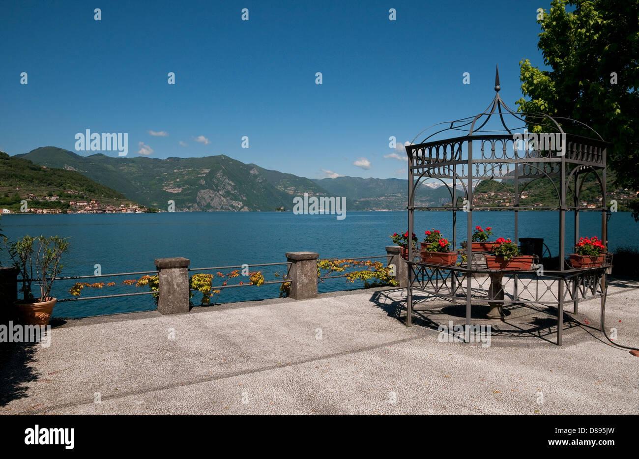 sale marasino, lake iseo, lombardy, italy - Stock Image