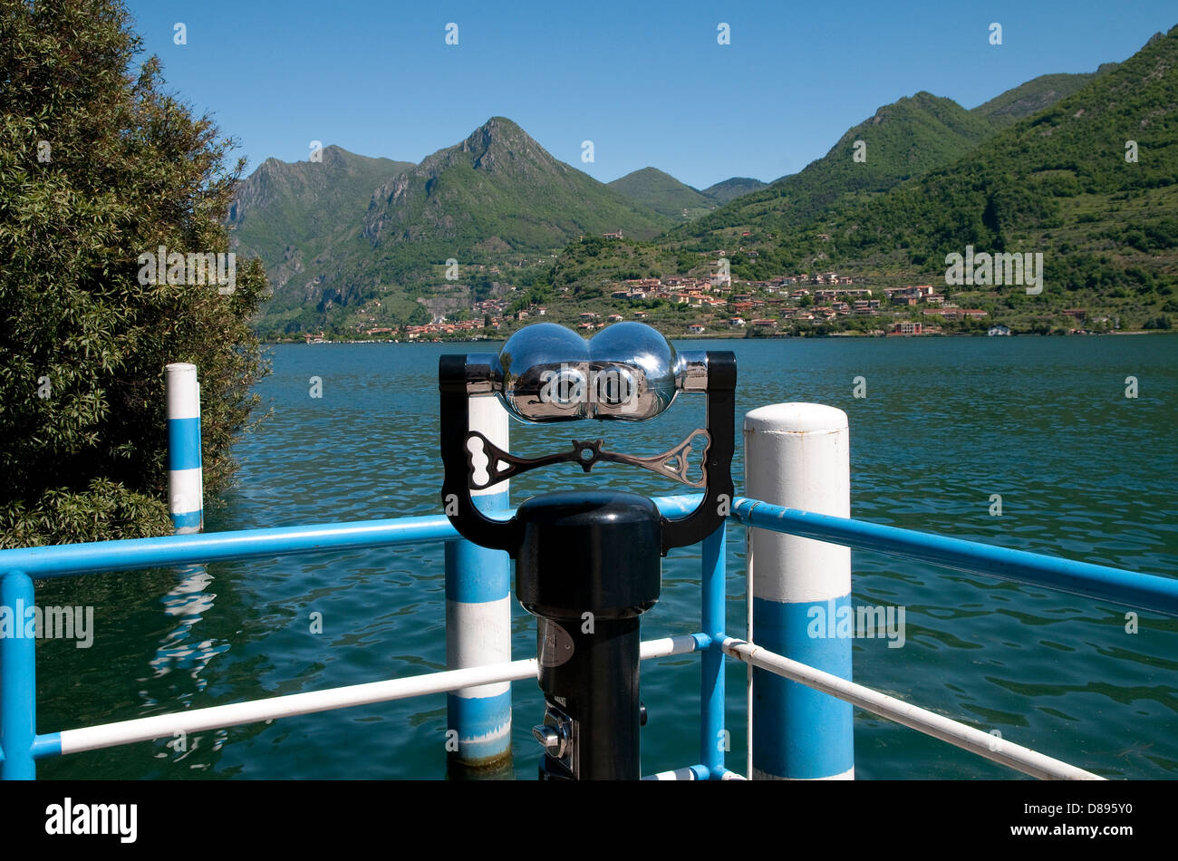 carzano, monte isola, lake iseo, lombardy, italy - Stock Image