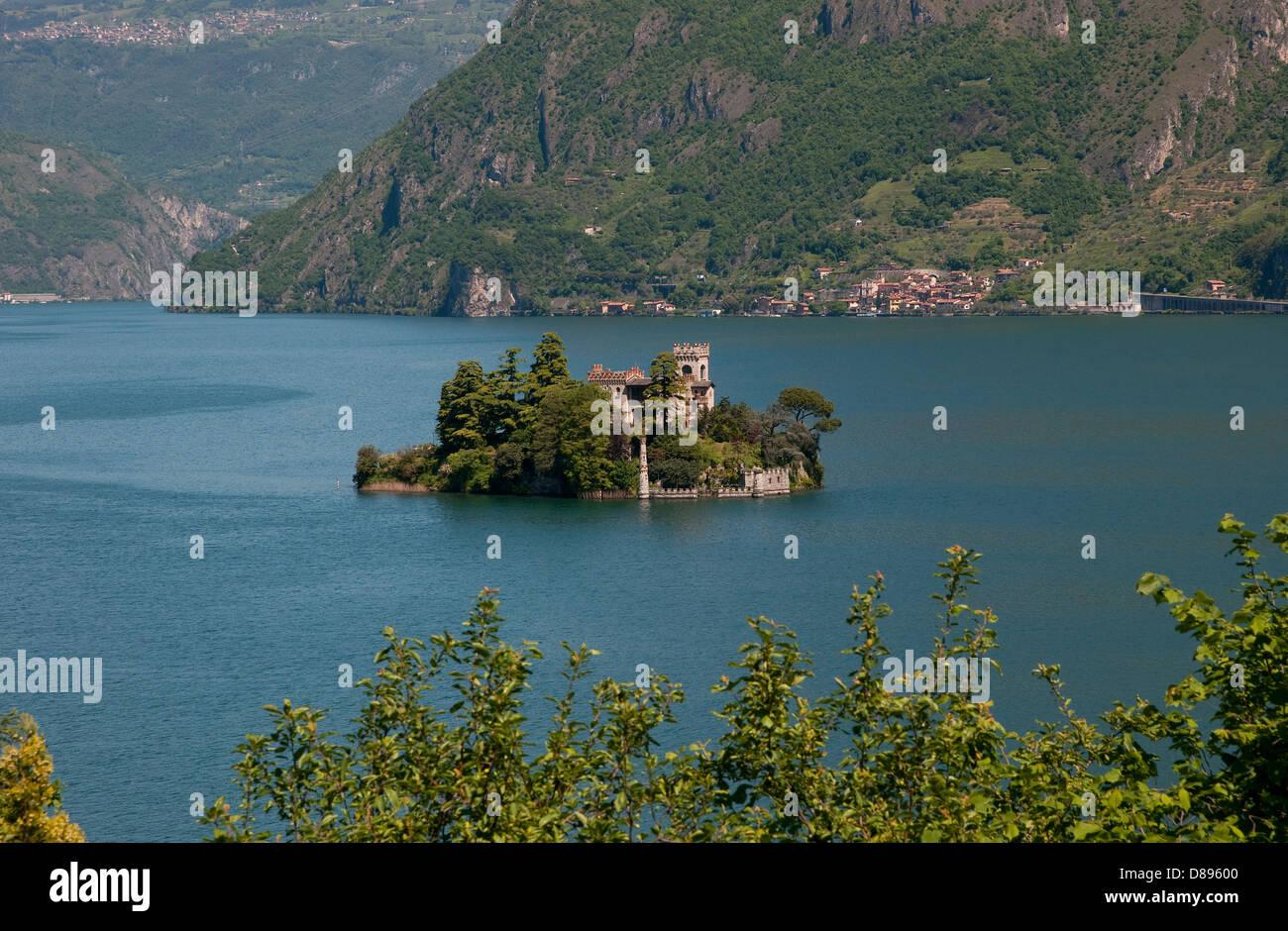 isola di loreto, monte isola, lake iseo, lombardy, italy - Stock Image
