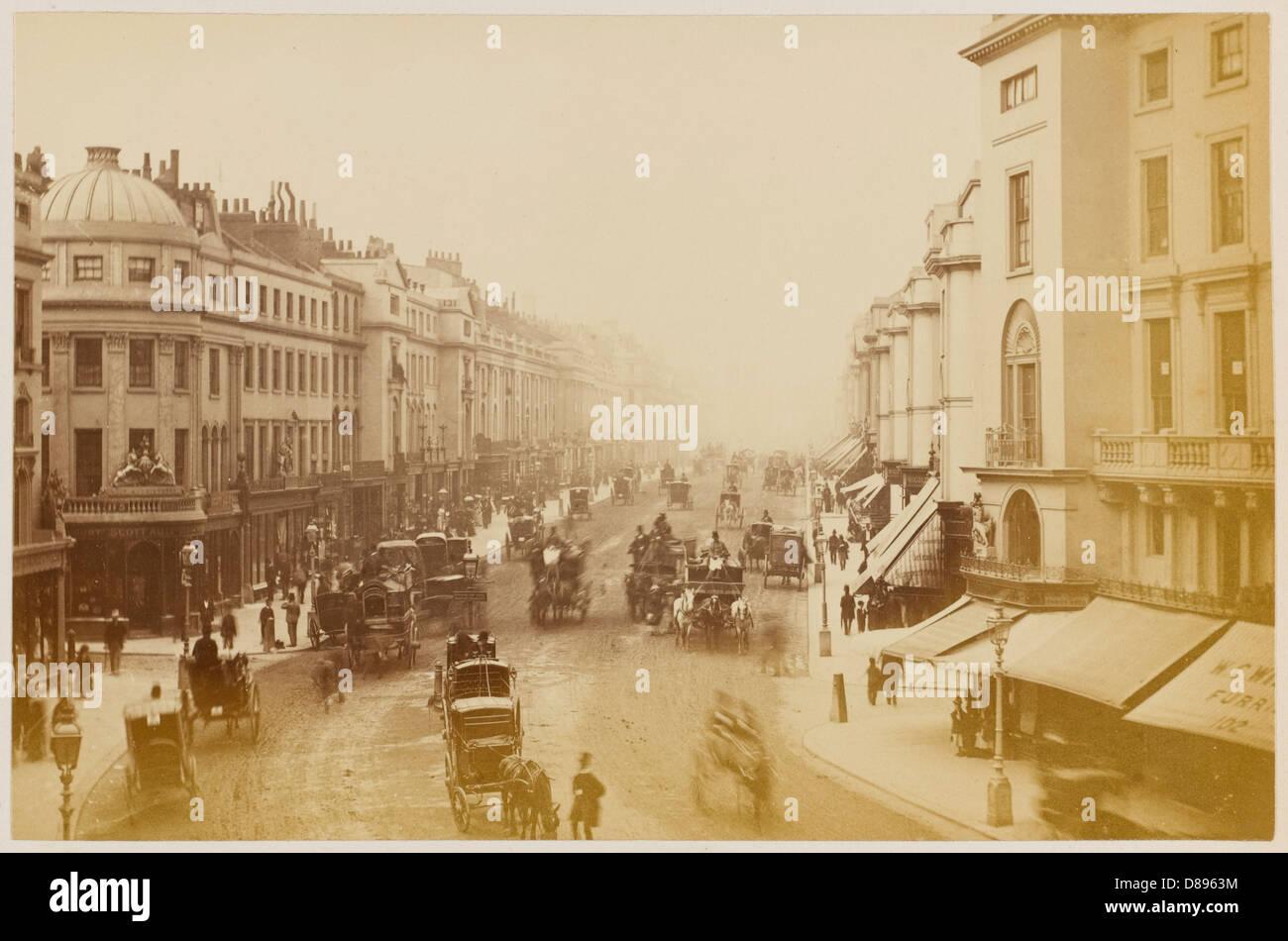 Regent Street 1877 Stock Photo
