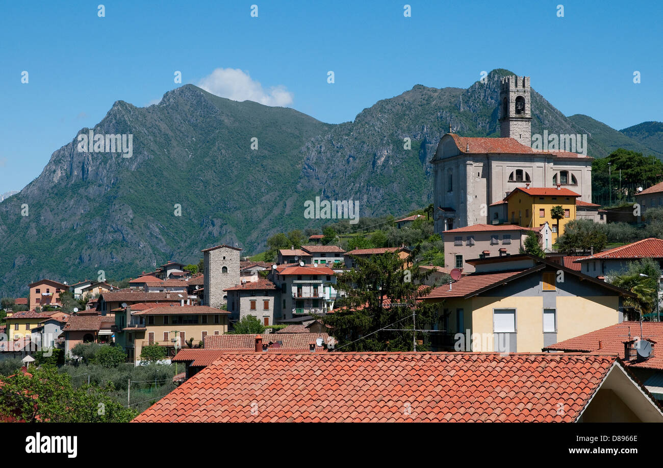 siviano, monte isola, lake iseo, lombardy, italy - Stock Image