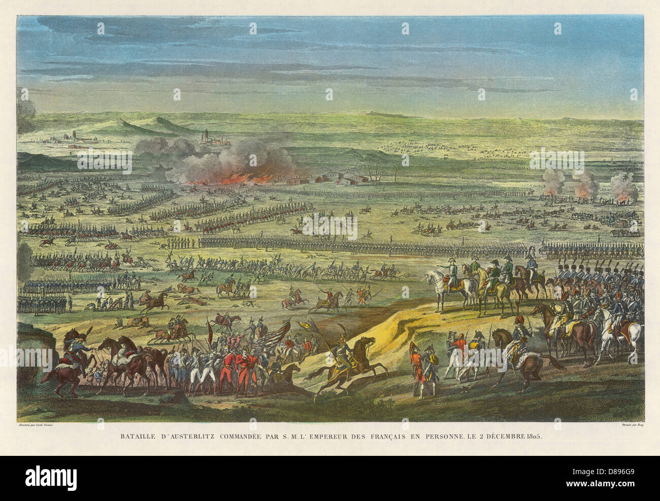 Battle Of Austerlitz - Stock Image
