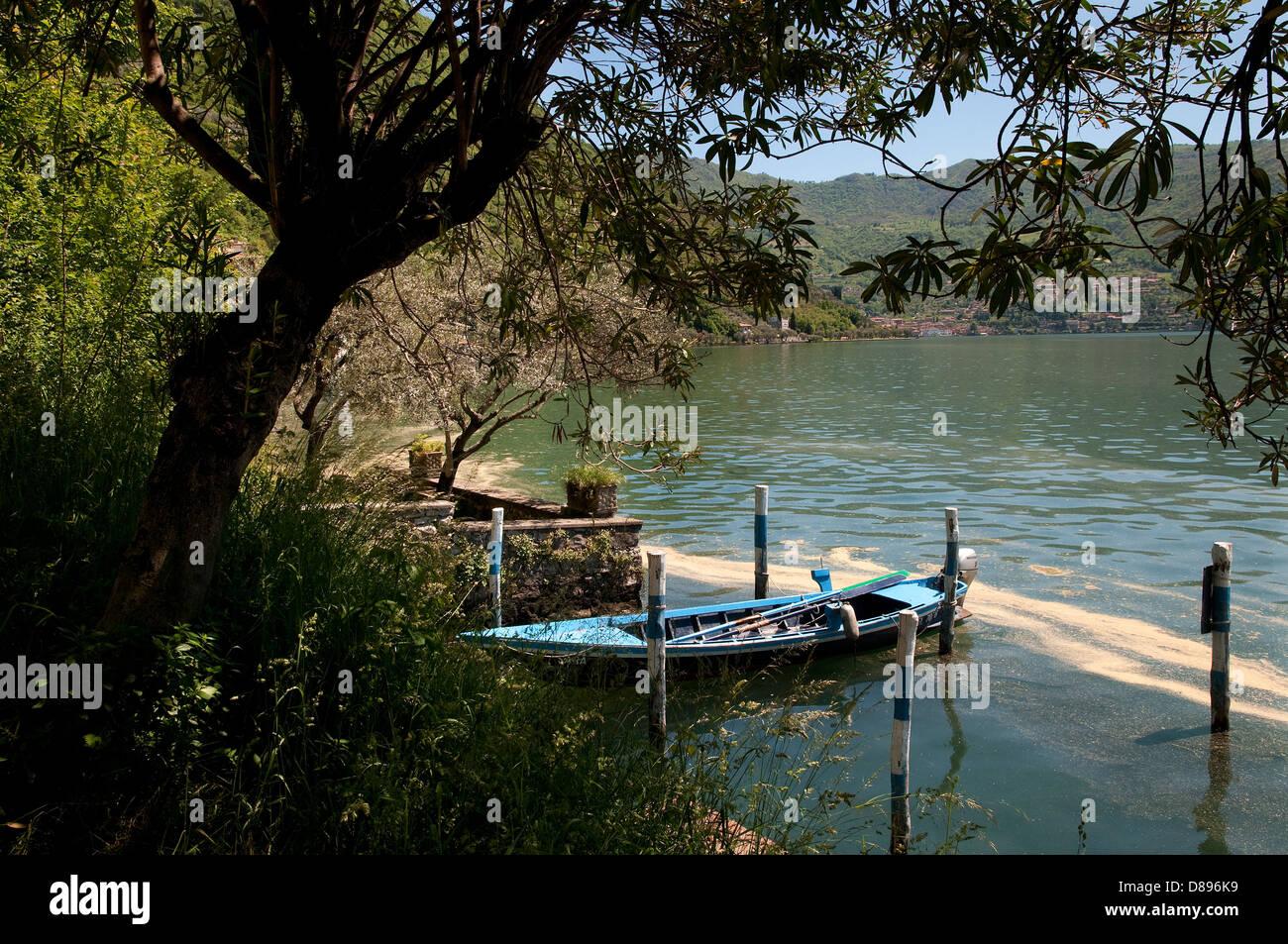 sensole, monte isola, lake iseo, lombardy, italy - Stock Image
