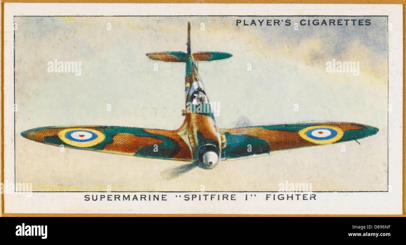 Spitfire Colour Photo - Stock Image
