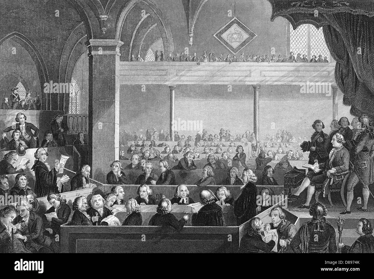 Protestant Assembly 1783 - Stock Image