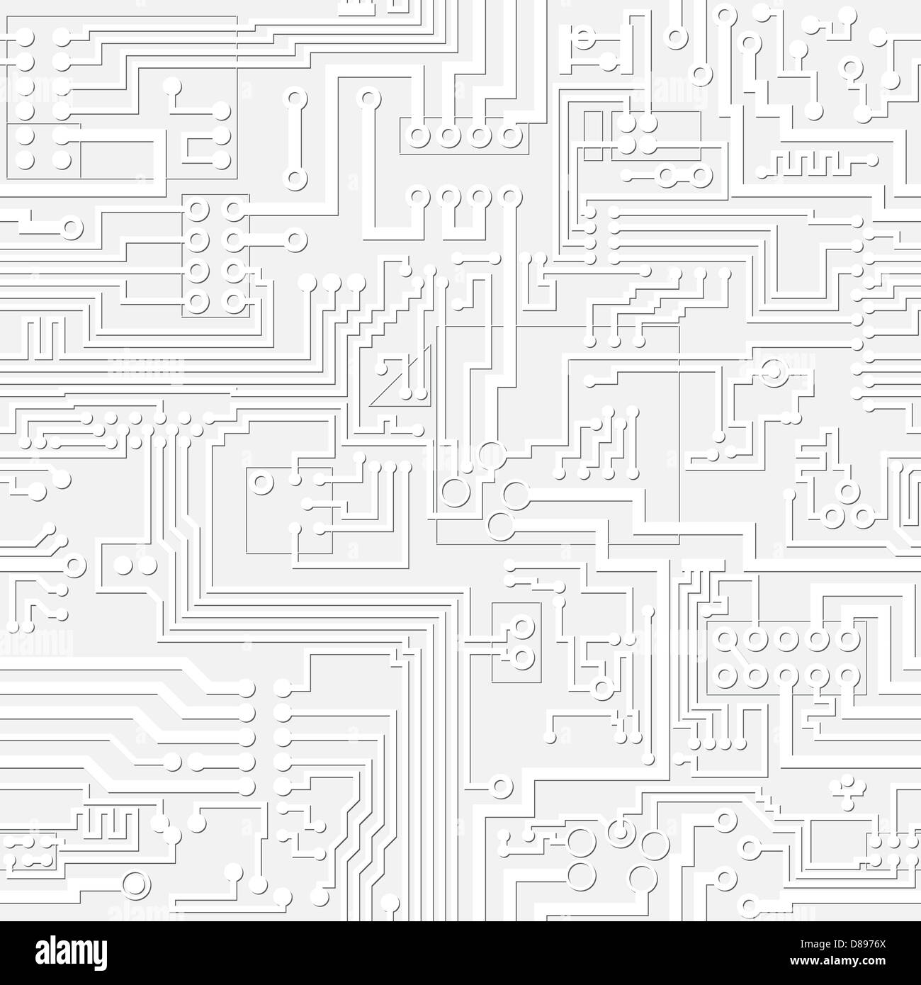 Technology Light Gray Electronic Circuit Board Seamless Background Schematic Stock Photos Photo Enlarge