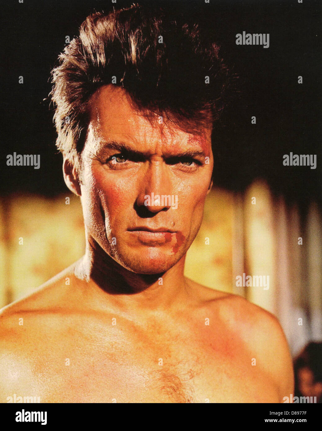 coogan s bluff 1968 universal film with clint eastwood stock photo