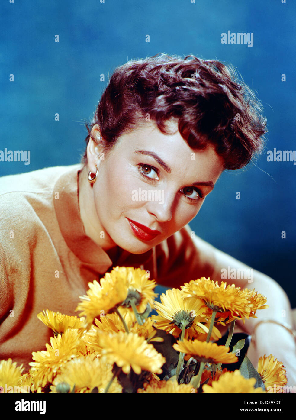 JEAN SIMMONS (1929-2010) Enlgish-American film actress about 1956 - Stock Image
