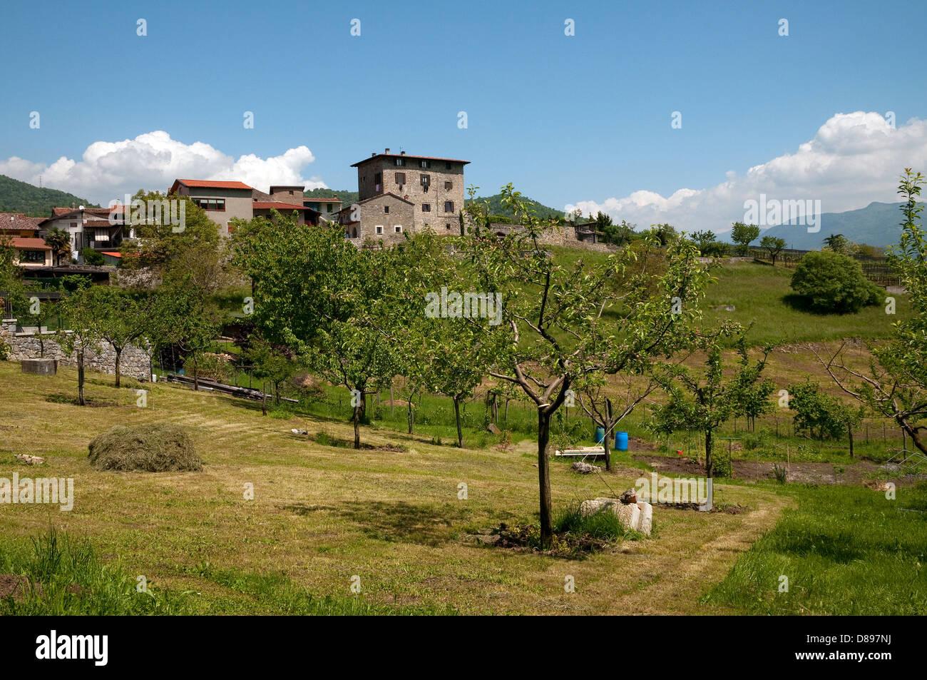 solto collina landscape, lake iseo, lombardy, italy - Stock Image