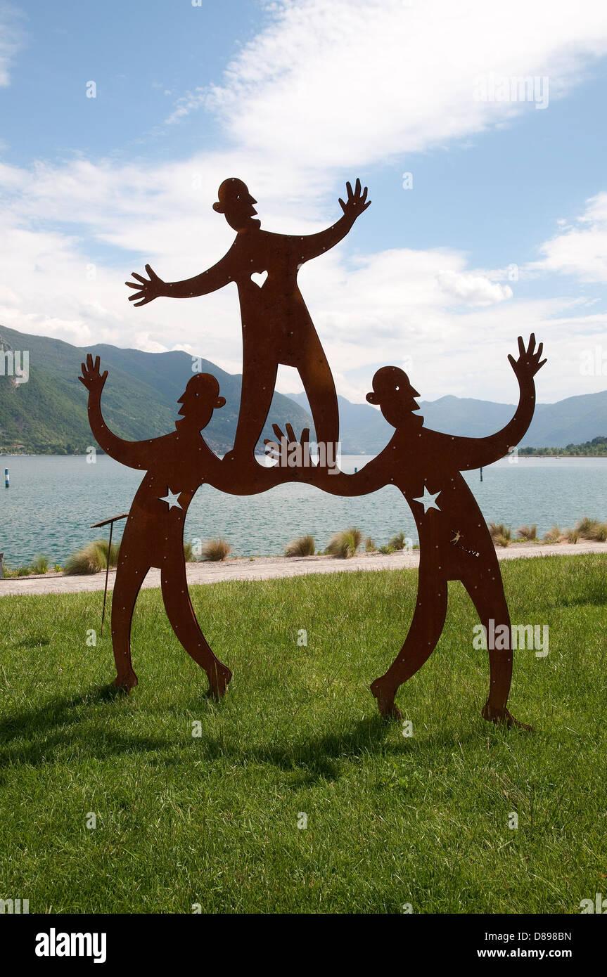 sarnico, lake iseo, lombardy, italy - Stock Image