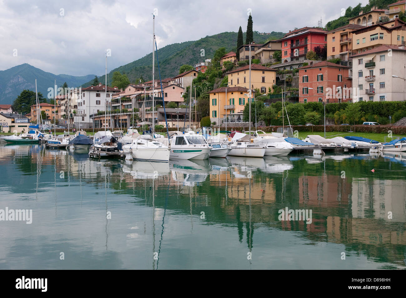 lovere, lake iseo, lombardy, italy - Stock Image
