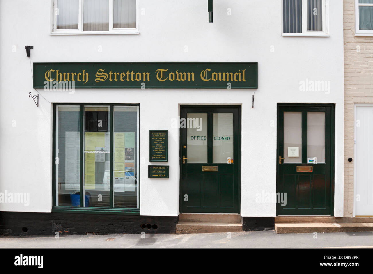 Church Stretton Town Council Offices, Shropshire, England, UK. - Stock Image