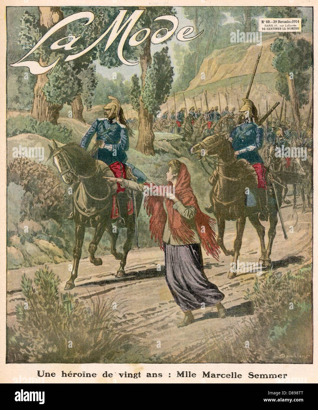 Heroic French Girl - Stock Image