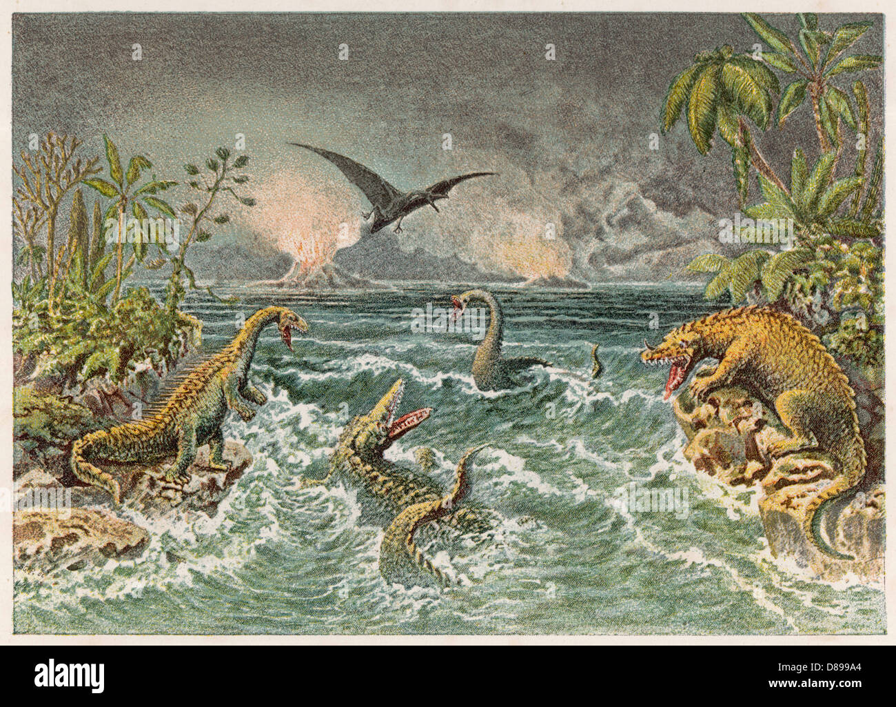 Mesozoic Lscape - Stock Image