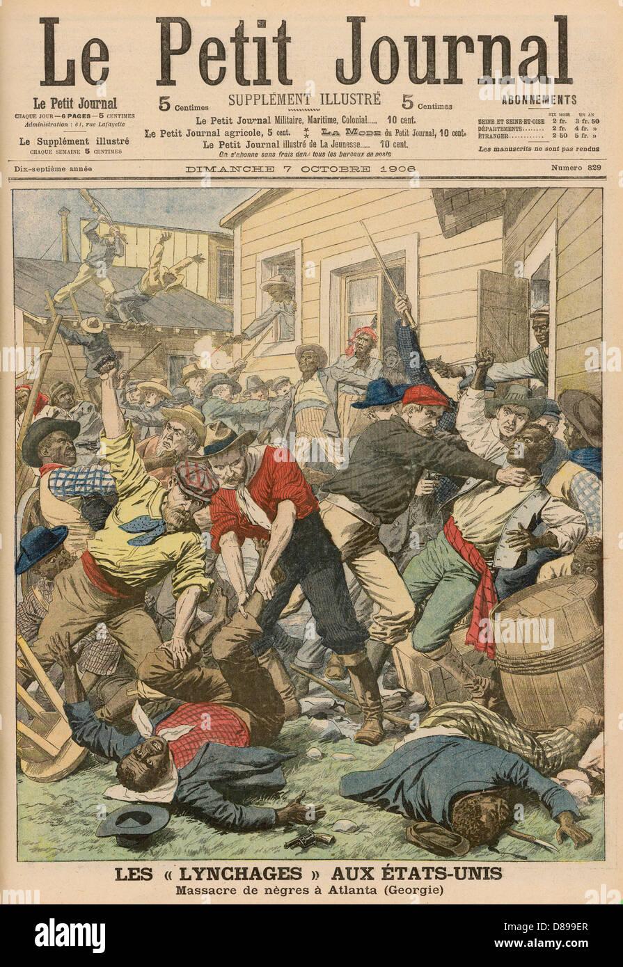 Atlanta Race Riots 1906 - Stock Image