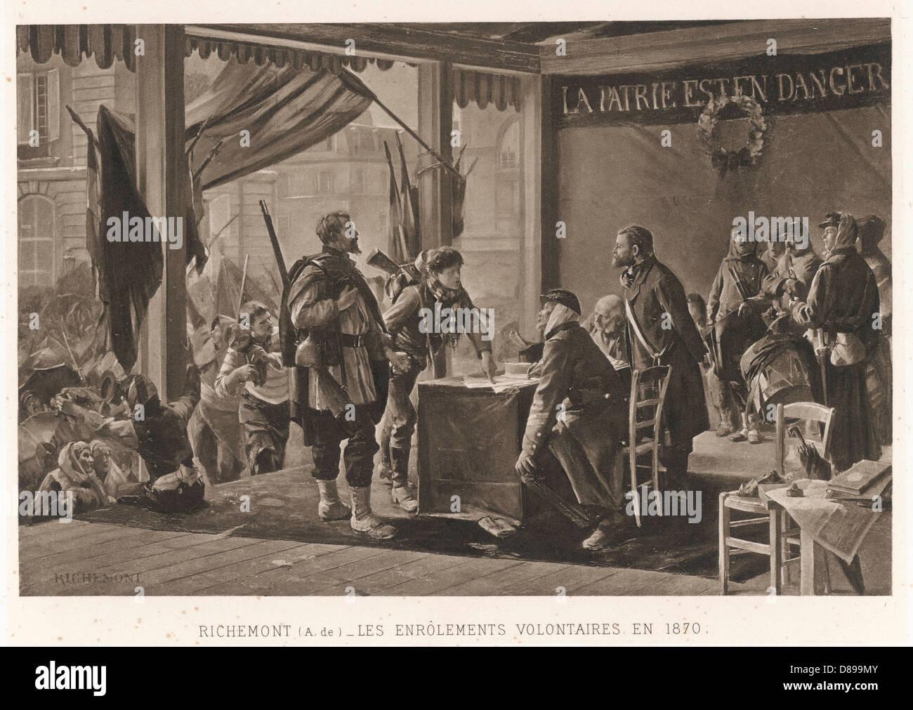 Volunteers 1870 Stock Photo