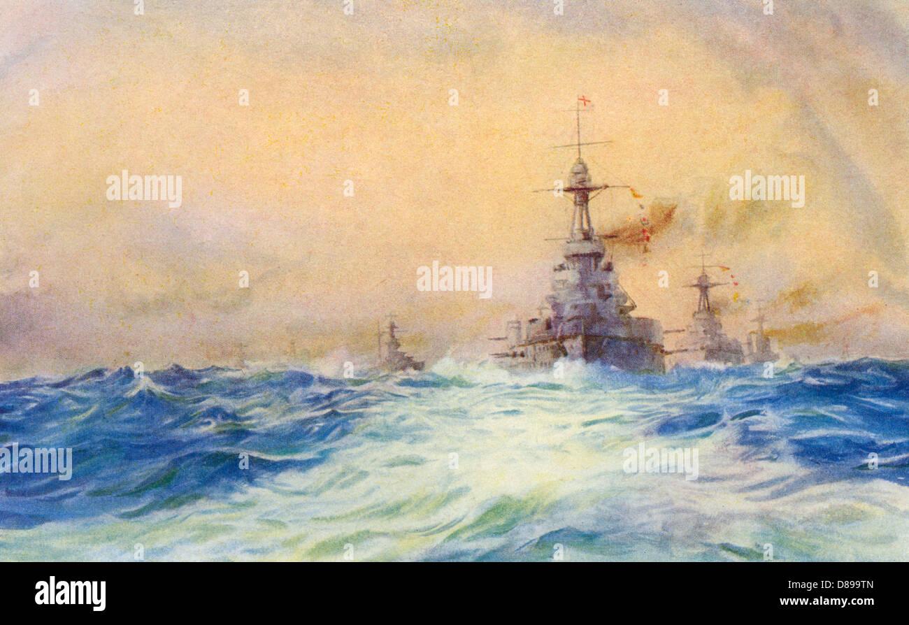 Iron Duke Warship - Stock Image