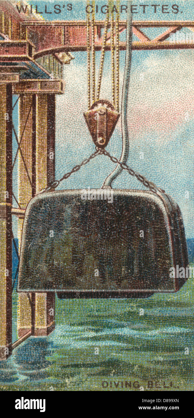 Diving Bell Card Stock Photo