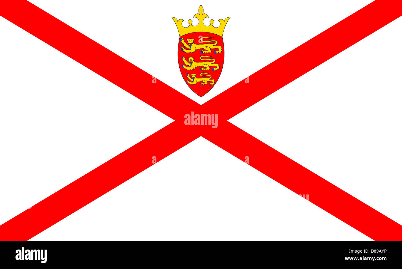 Flag of the British Crown Dependency Jersey. - Stock Image