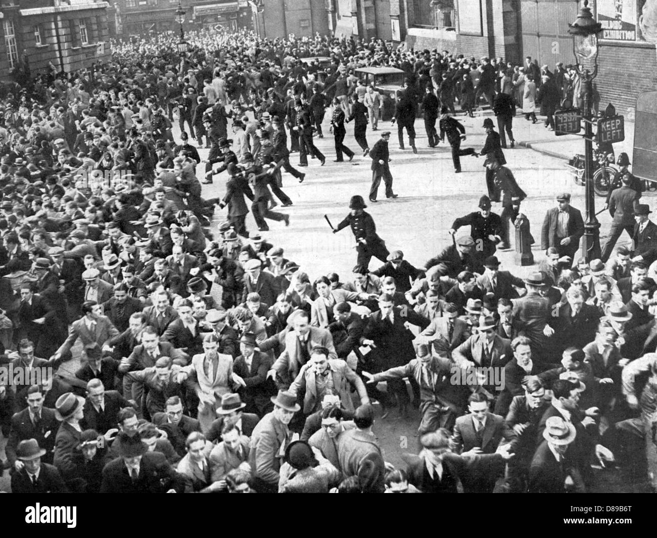Demonstrators Charged - Stock Image