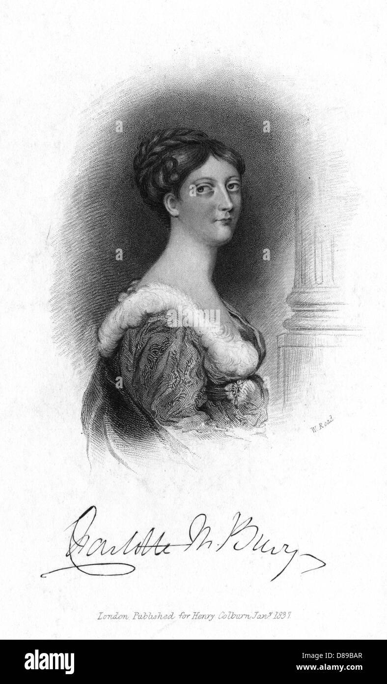 Lady Charlotte Bury 2 - Stock Image