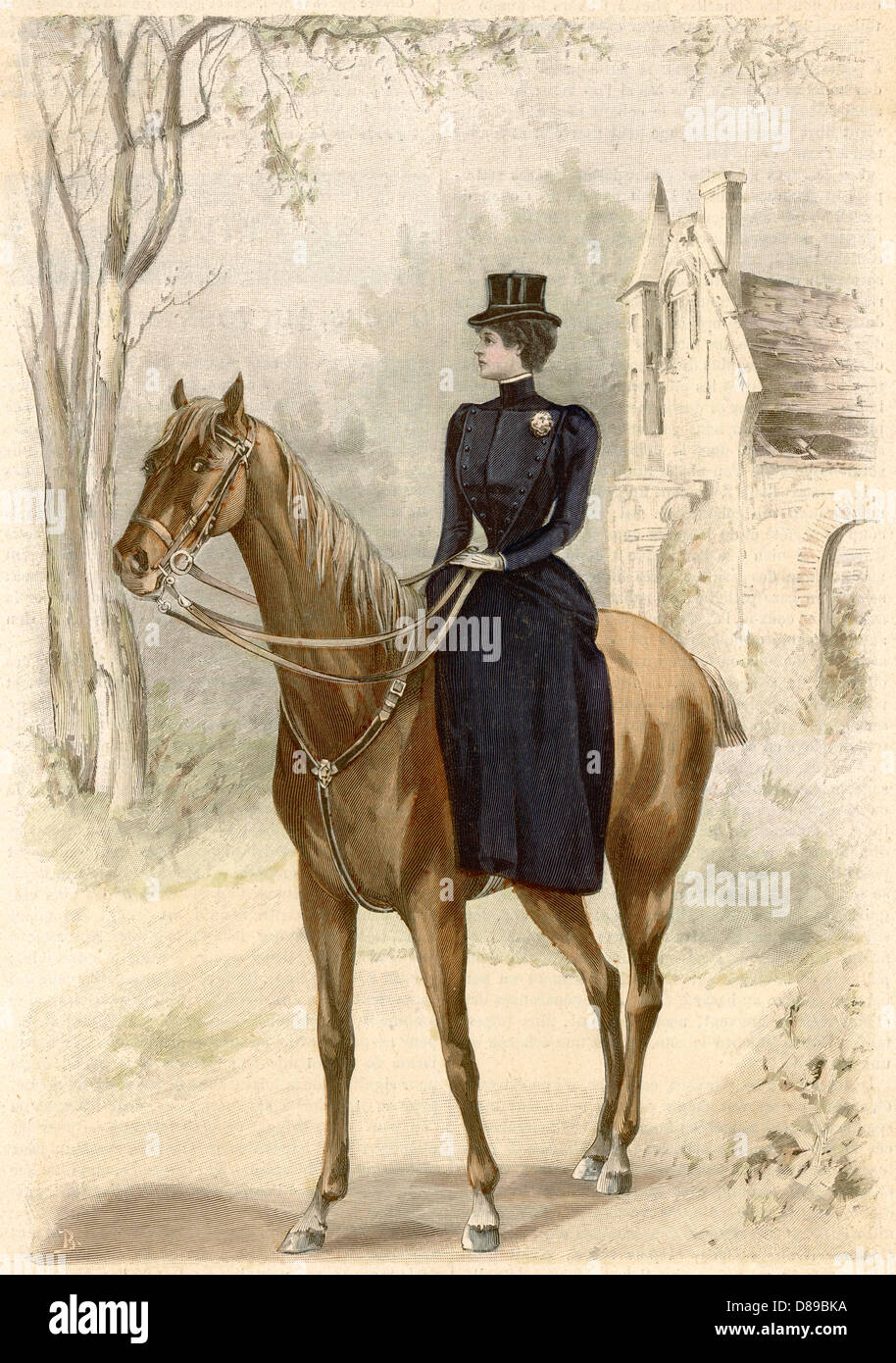 Riding Habit 1899 - Stock Image