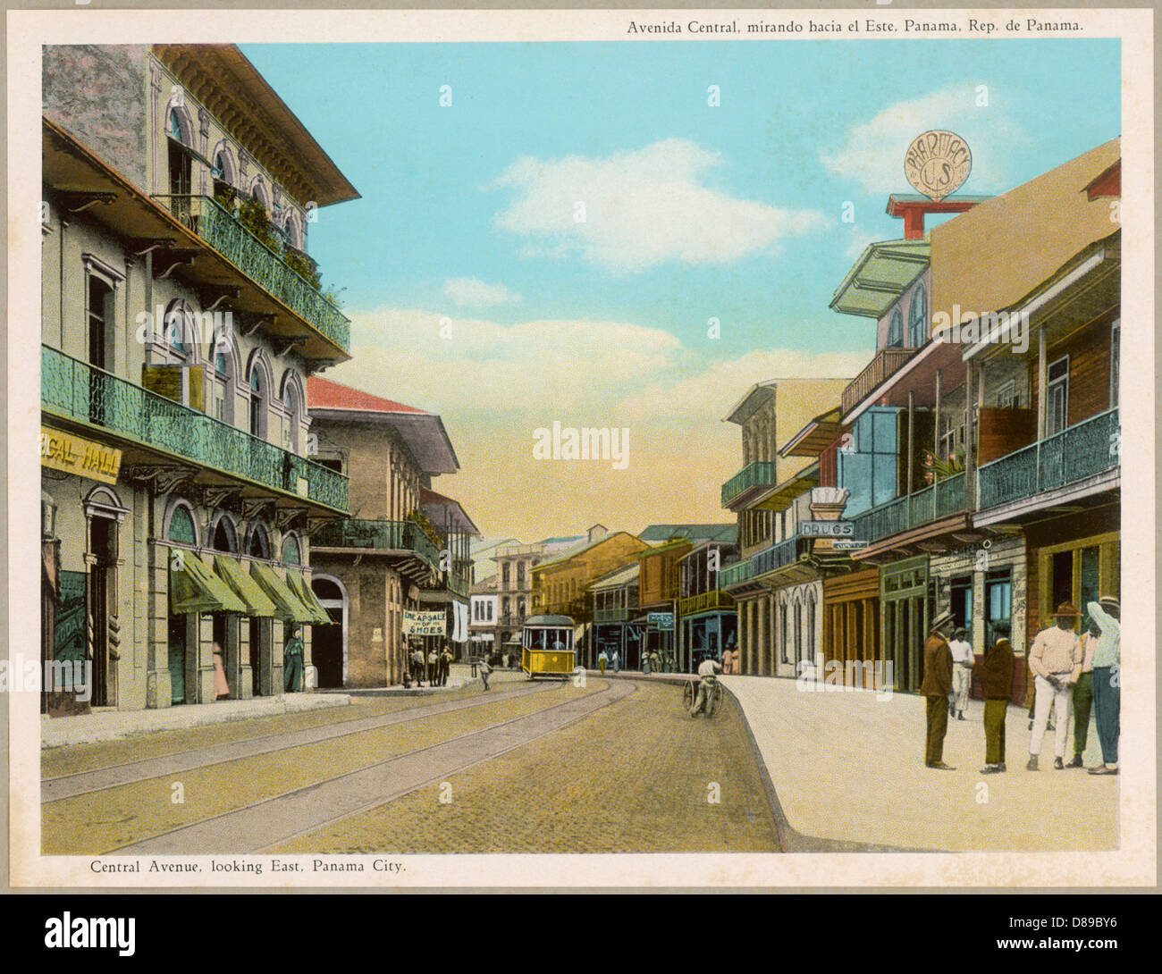 Panama City 1914 - Stock Image