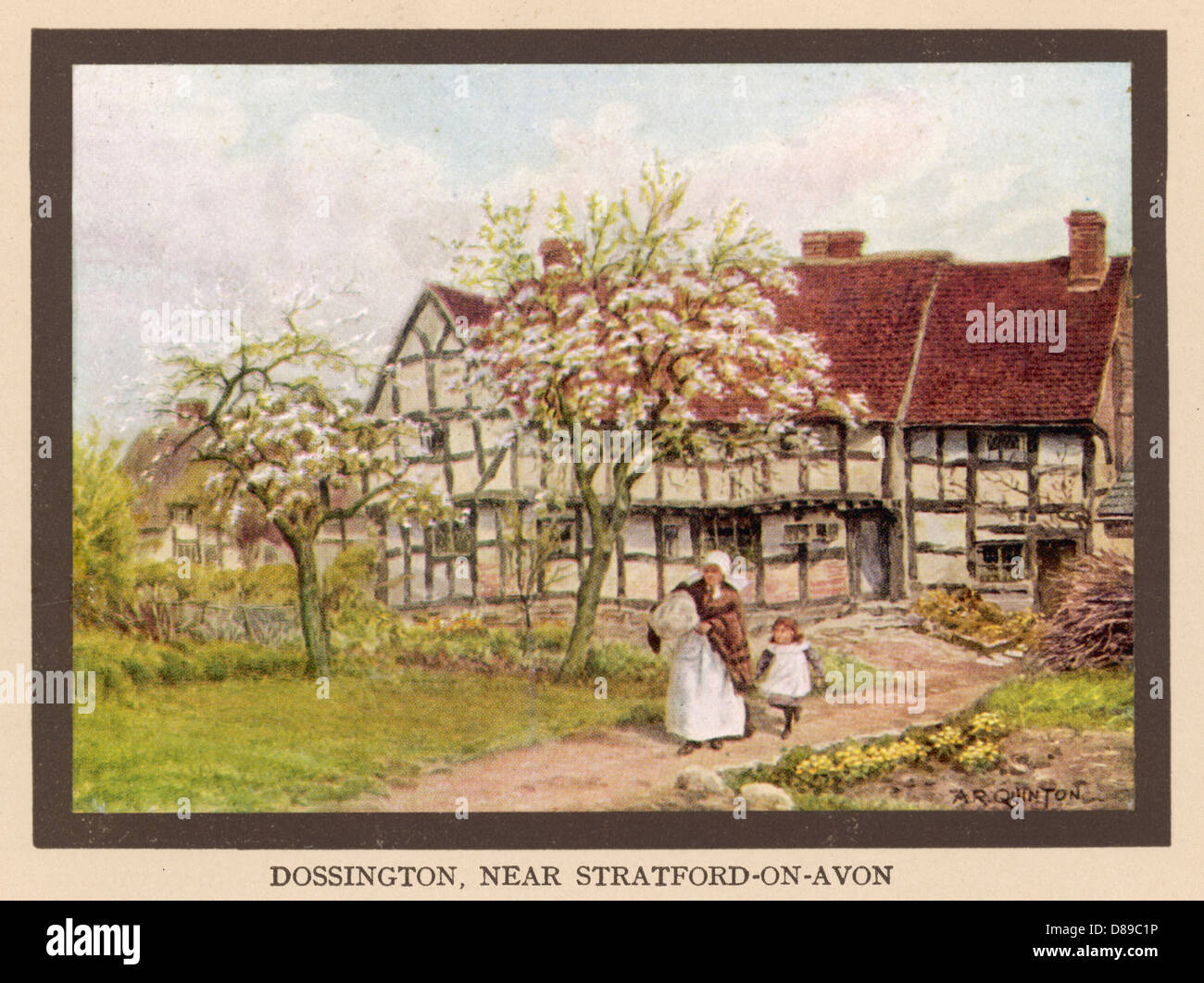 Social Country Cottage - Stock Image