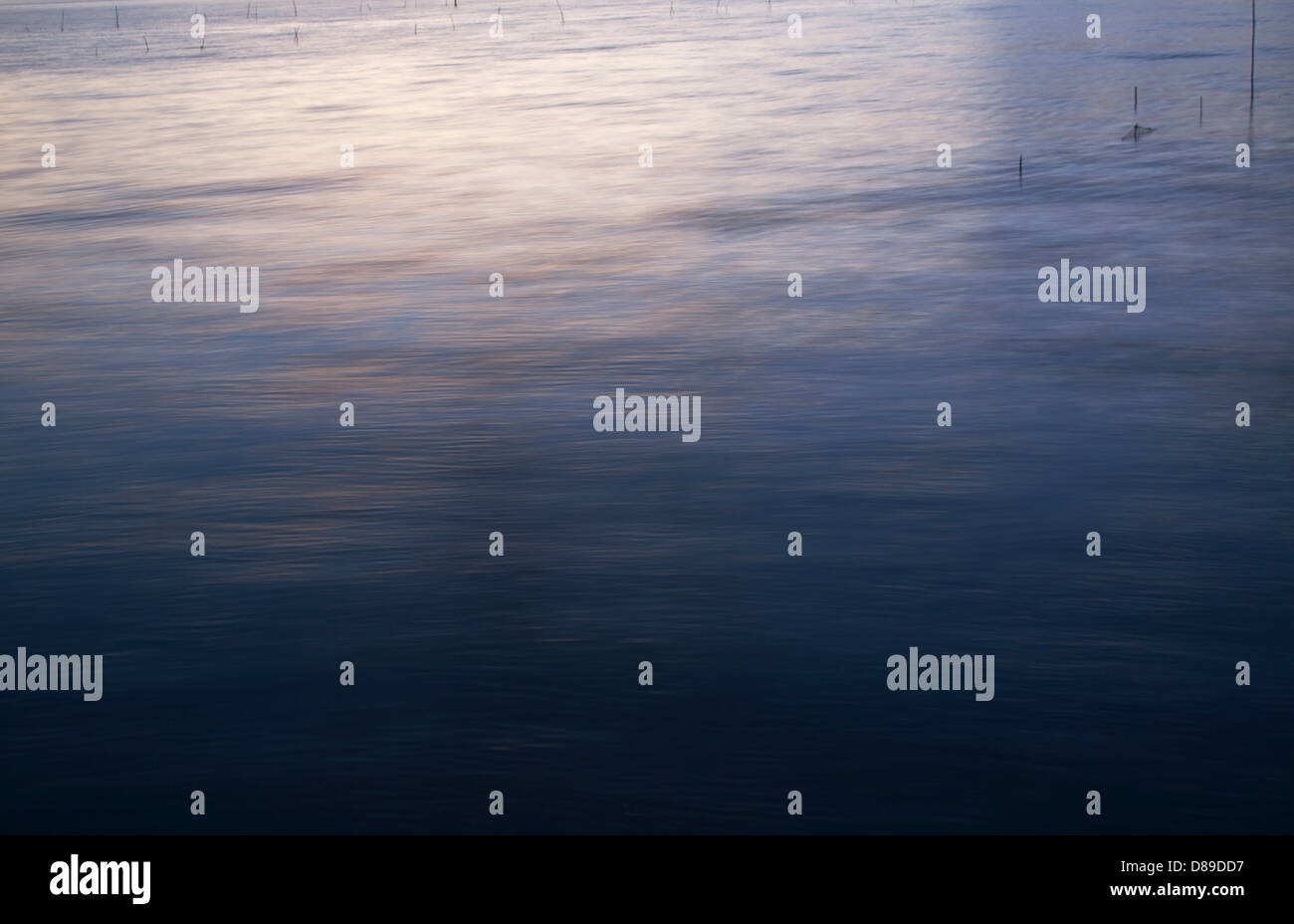 Trasimeno Lake water reflections in the evenings - Stock Image