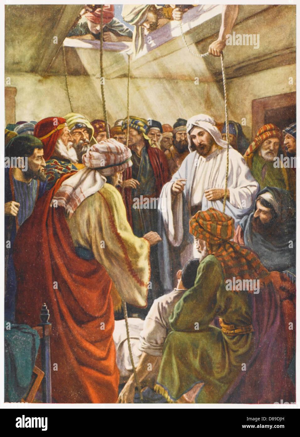 Jesus Heals Paralytic Stock Photo 56756633
