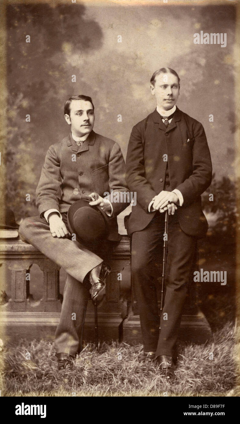 Loung Suits Photo 1890s - Stock Image