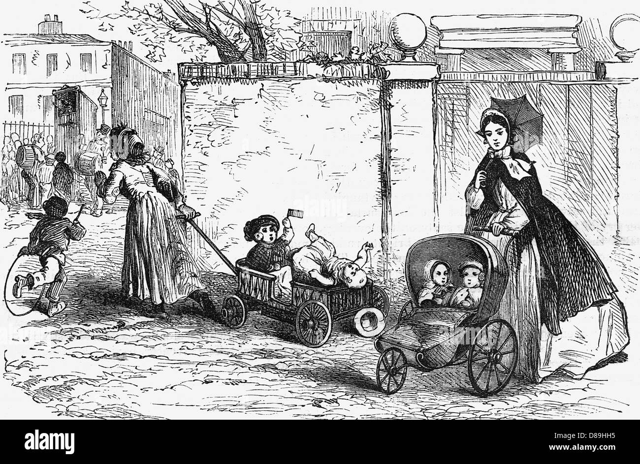 Go Cart And Pram 1866 - Stock Image