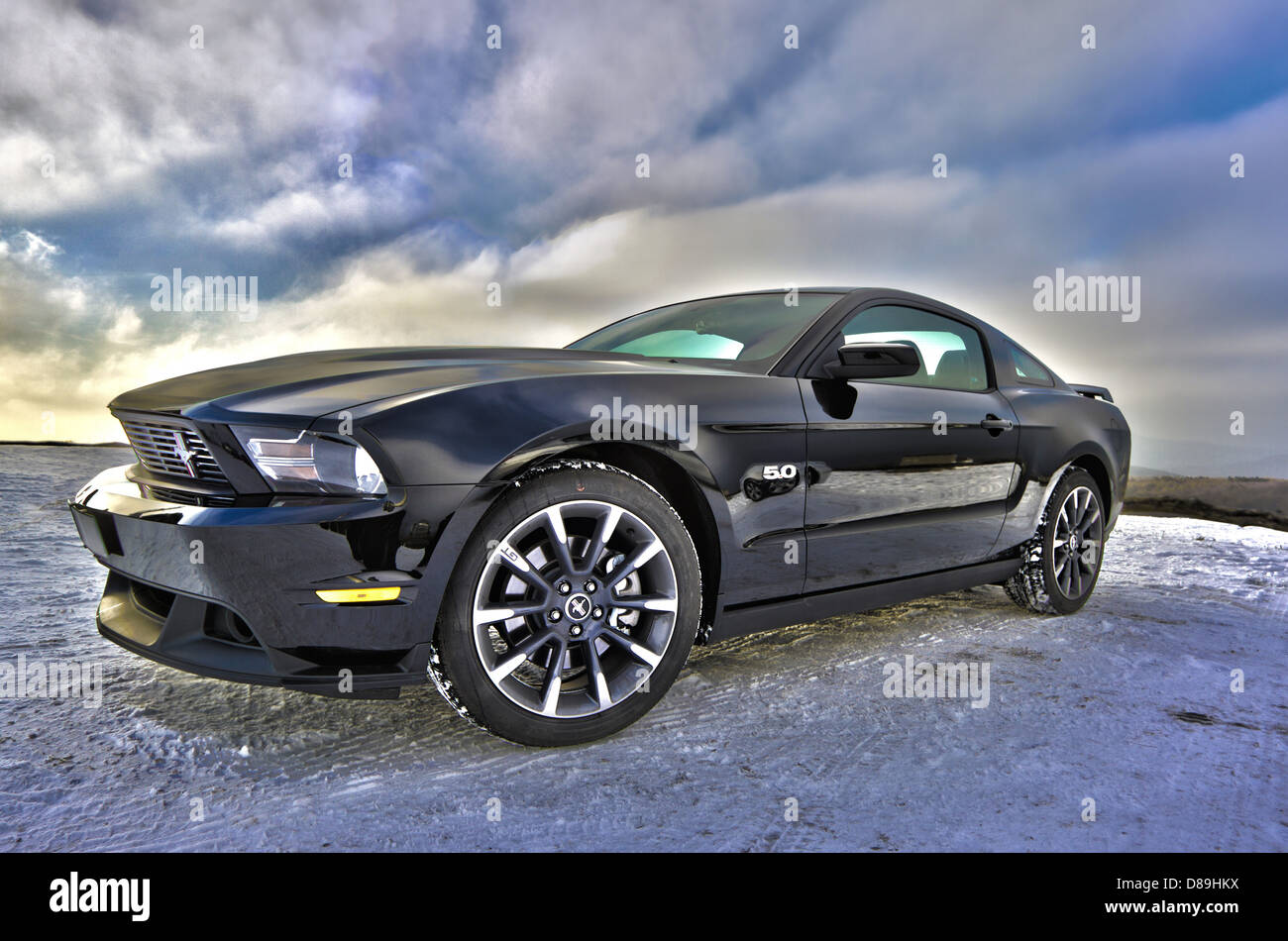 ford mustang car auto muscle us-car sport coupe - Stock Image