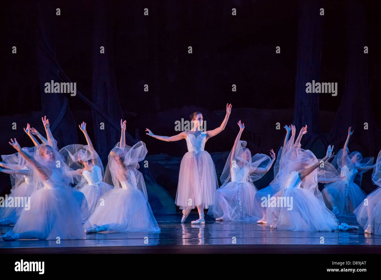 Myrta and the Wilis in Giselle ballet - Stock Image