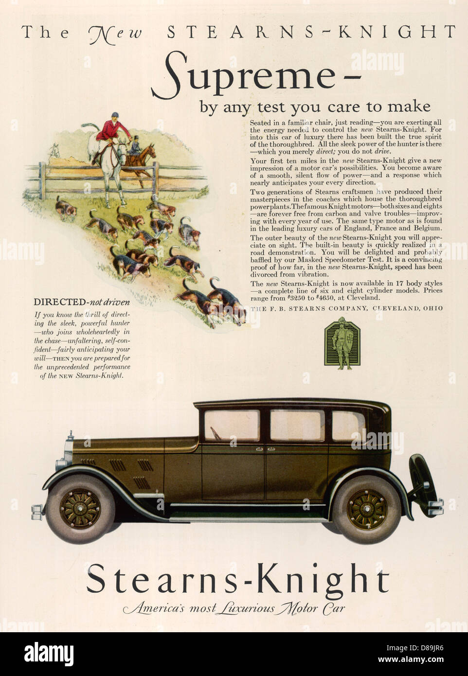 Stearns Knight 1927 - Stock Image