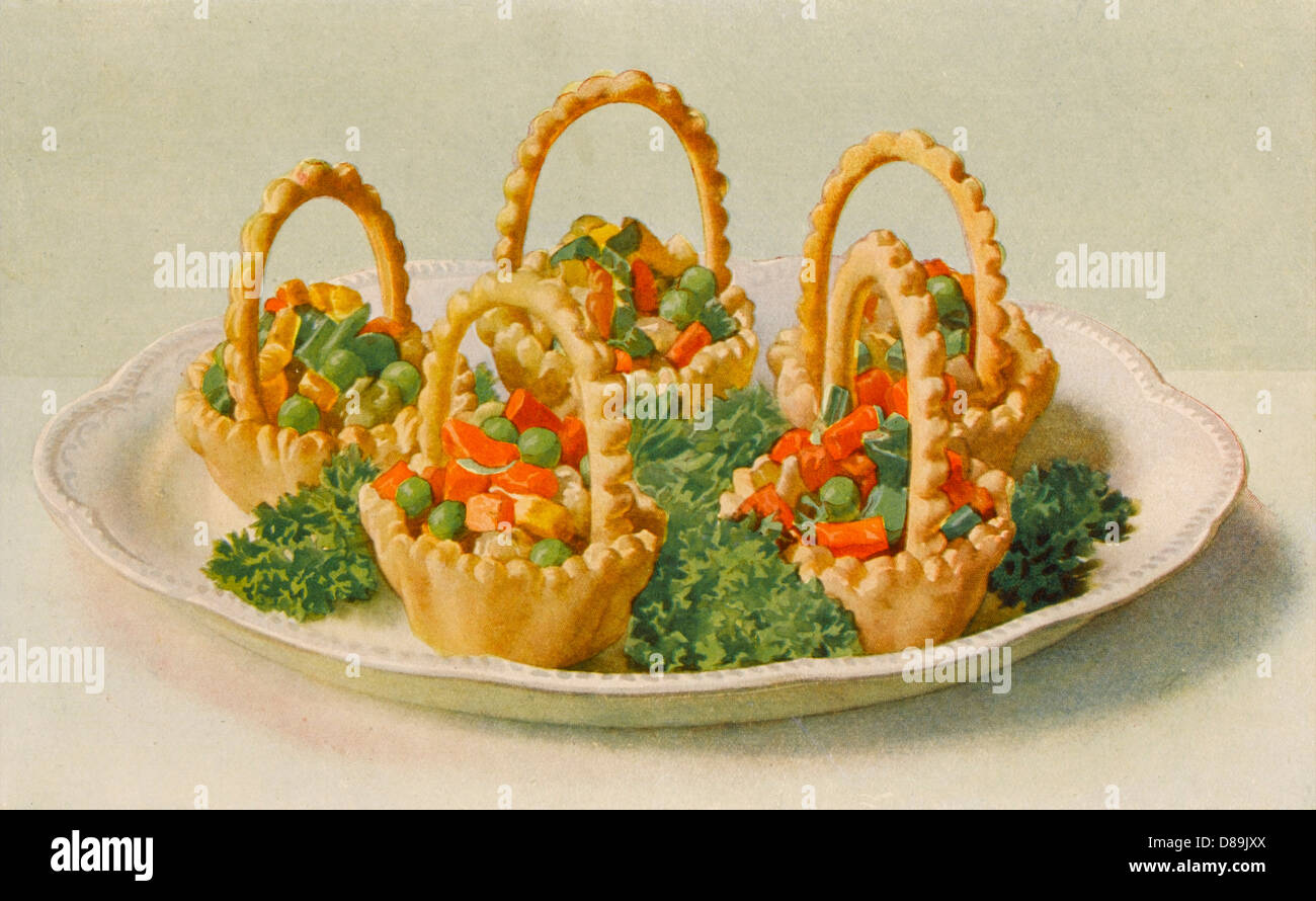 Vegetables In Baskets - Stock Image